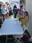 Lauren Groff signs books at the LA Times Festival of Books on April 20, 2013.